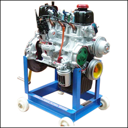 FOUR CYLINDER FOUR STROKE PETROL ENGINE IN CUT SECTION